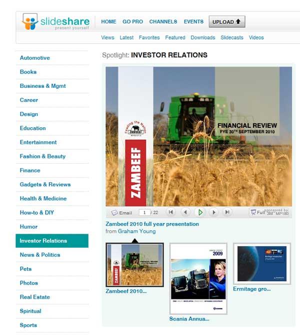 Slideshare als Social Media Tool in den Investor Relations - www.online-investorrelations.de