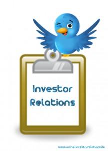 Twitter Liste Online Investor Relations