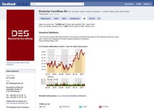 DES_AG IR Fanpage auf Facebook