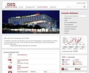 Deutsche EuroShop launcht Webseite mit Social Media Fokus und IR Blog