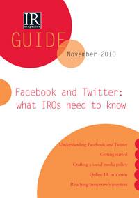 Was IROs über Facebook und Twitter wissen sollten