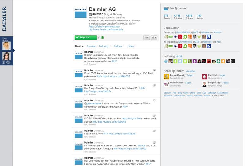 Daimler Investor Relations Twitter