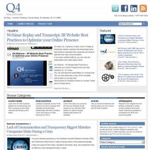Q4 Web Systems IR Blog