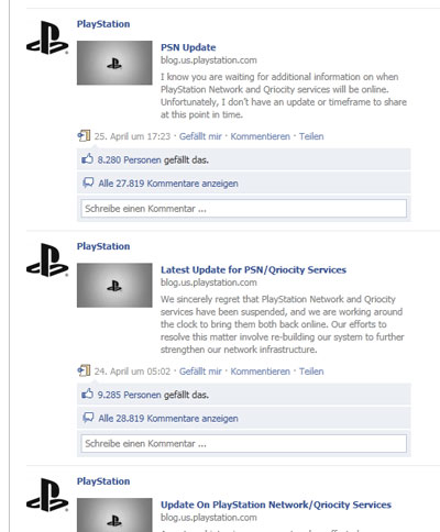 Sony Facebook Krisenkommunikation