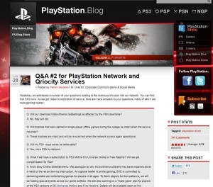 Sony Playstation Blog Krisenkommunikation