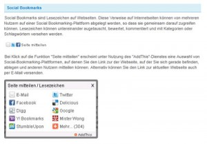 Social Bookmarking bei Bayer IR