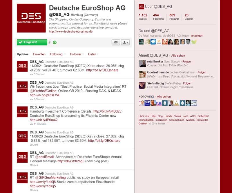DES_AG Investor Relations Twitter
