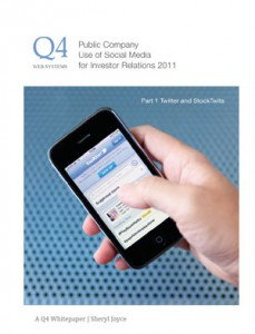 Q4 Whitepaper - Public Company Use of Social Media for Investor Relations