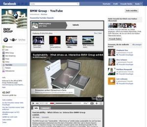 BMW bindet seine umfassenden Youtube-Videos ansprechend auf Facebook ein