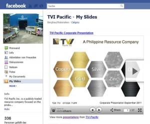 TVI-Pacific bindet seine Slideshare Präsentationen auf Facebook ein