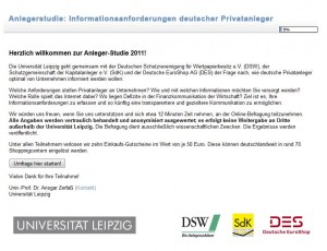 Anlegerstudie - Informationsanforderungen deutscher Privatanleger