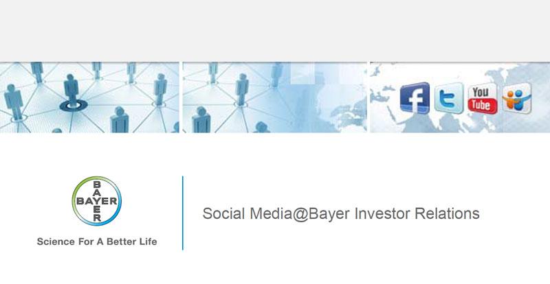 Bayer AG entscheidet sich gegen zusätzliche Social Media Kanäle für die IR
