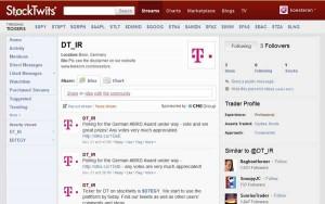 Telekom Stocktwits Ticker Symbol