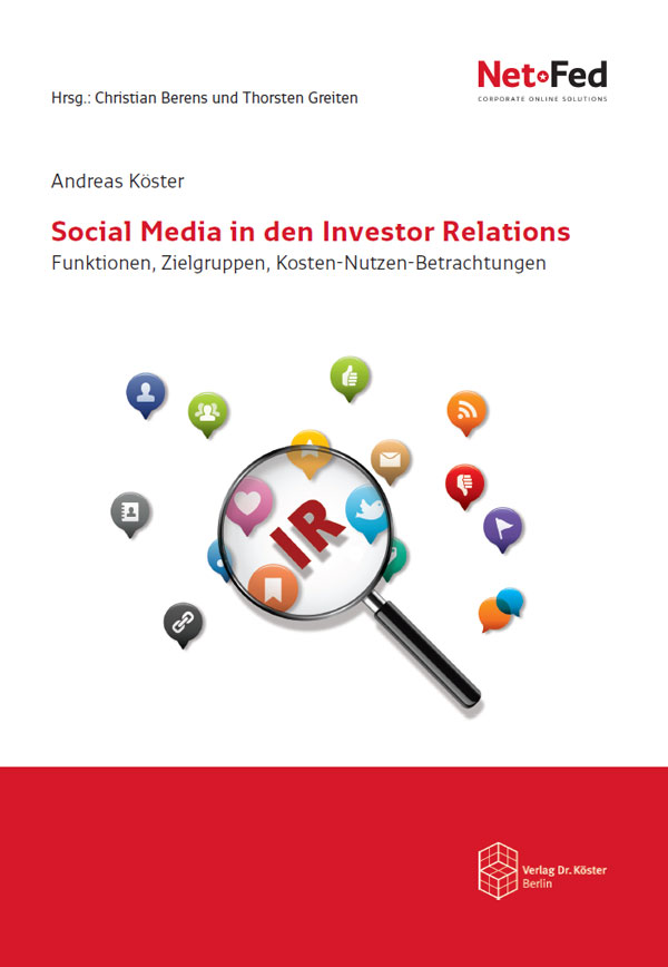 Fachbuch Social Media in den Investor Relations - Verlag Dr. Kster