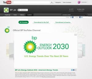 BP Investor Relations Videos auf Youtube