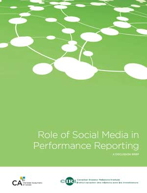 Role of Social Media in Performance Reporting