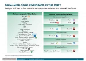 Investor Relations 2.0 - Global Benchmark Study 2012